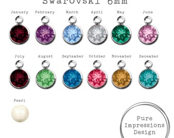 Add On: Additional Birthstones 6mm - Handstamped Jewelry - Personalized Jewelry - Custom Jewelry