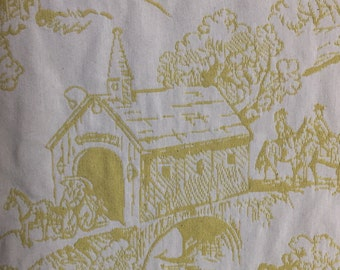 R/R Yellow Upholstery Toile - Farmhouse Toile - Upholstery Fabric by the Yard