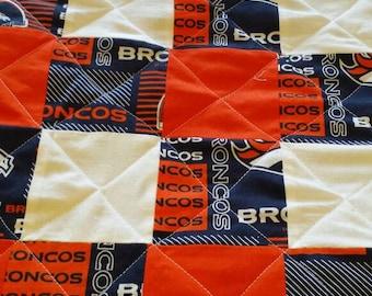Denver Broncos full size quilt
