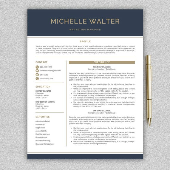 modern resume template professional resume template word
