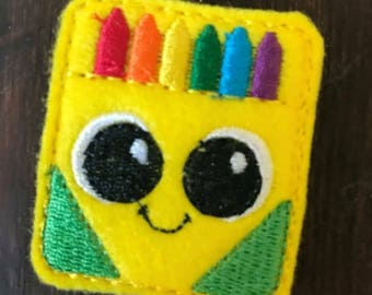 UNCUT Chunky crayon box feltie