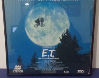 Framed - E.T. The Extra-Terrestrial - Circa 1988 - Wall Art!