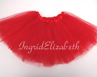 Red Tutu 4-Layer, Tutu, Tutu for Girls, Red Tutu, Red Girls Tutu, Red Ballet Tutu, Tutu Skirt, Toddler Tutu, Birthday Tutu, Tutu Costume
