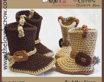 Crochet Pattern TODDLER Cowboy Boots