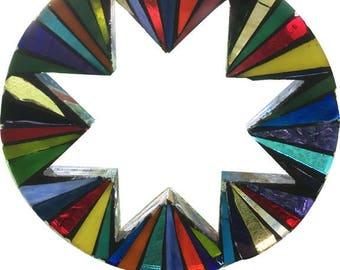Mosaic Circle/Star Garden Stake