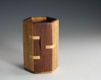 Black Walnut & English Walnut Pencil Cup (RR 7118)