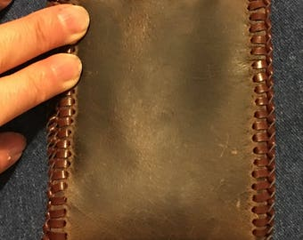 Oil tanned leather wallet