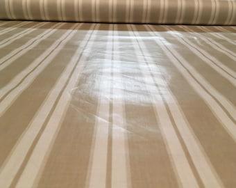 """Vintage Waverly """"Brant Point Stripe"""" Nantucket Collection , beige medium weight high sheen stripe chintz"""
