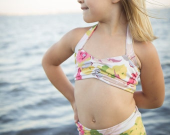 Floral Retro Bathing Suit Infants, Toddlers, Girls
