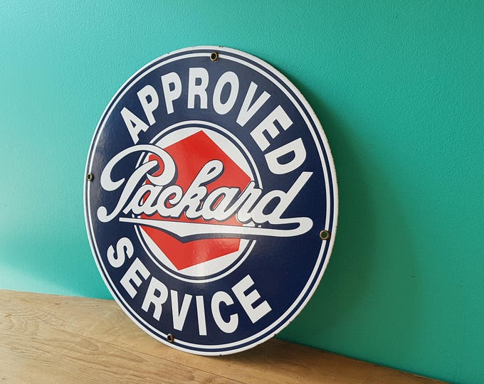 Vintage Packard Automotive Porcelain Sign