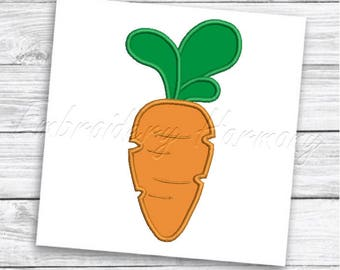 Carrot Applique design - 3 SIZES machine embroidery design - INSTANT DOWNLOAD