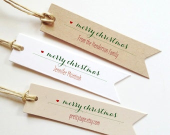 Merry Christmas Gift Tags Personalized Christmas gift Tags Christmas tag Holiday Gift Tags Christmas Gift wrap  (25)
