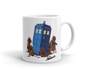 Jawas TARDIS Star Wars Doctor Who Mug