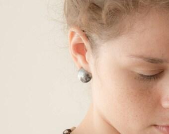 Eclipse studs - sterling brass earrings