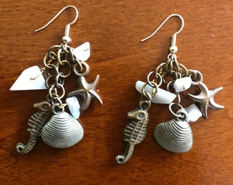 Seahorse and Starfish Earrings