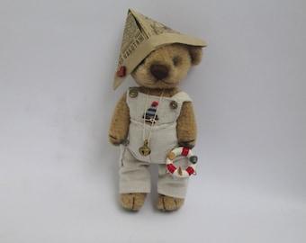 Artist Teddy Bear   antique teddy bear brown Bear in clothes vintage bear A small bear made of fleece