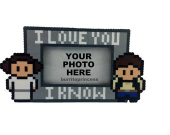 Picture Frame - Star Wars Couples Picture Frame - Nerdy Picture Frame - Photo Frame - Star Wars Picture Frame