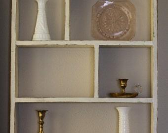 Shelves, Wood Shelf, White Shelf, Hanging Shelf, Farmhouse Shelf, Wood Shelves, French Country Wall Decor, Country Cottage Decor