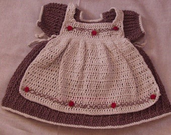Little Girls dress with Apron
