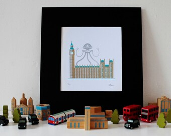 Westminster London Gocco Print
