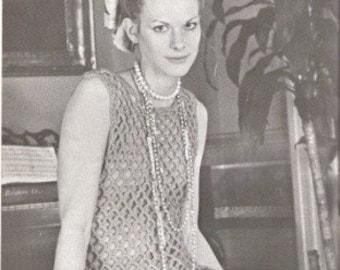 DRESS - Crochet Sleevelesss Openwork Mini Dress THREE