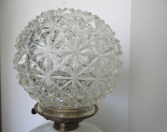 Oil lamp shade etsy banquet lamp antique crystal gwtw round shade for oil mozeypictures Choice Image