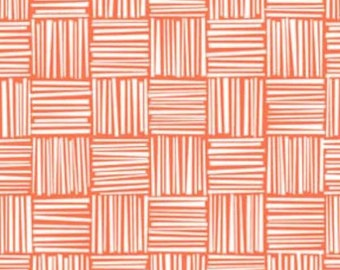 SALE - Tomato Basketweave FLANNEL by Erin McMorris from Free Spirit
