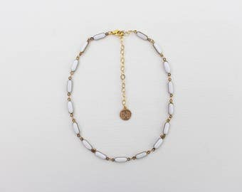 Chain Choker - White Dash