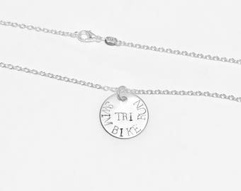 Triathlete - Triathlete Gifts - Triathlete Necklace - Triathlete Charm - Triathlon - Triathlon Gift - Triathlon Jewelry - Triathlon Necklace