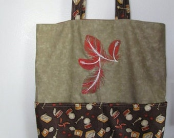 Feathers and Cats Tote Bag Shopping Bag Diaper Bag