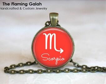 SCORPIO Pendant • Scorpio Symbol • November Birth Sign • November Star SIgn • Ladies Zodiac • Gift Under 20 • Made in Australia (P1339)