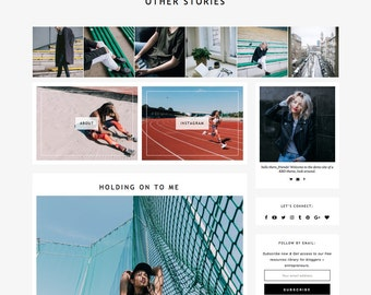 "Responsive Wordpress Theme ""Other Stories"" // Instant Digital Download Blog Design Template"