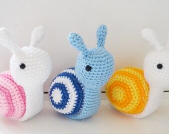 Cute Crochet Amigurumi Snail