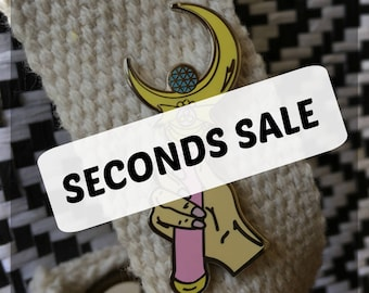 SECONDS SALE - Sailor Moon Wand Pin, Second Pins, B-grade, Imperfect