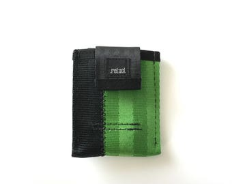 Minimalist Credit Card Wallet in Green and Black
