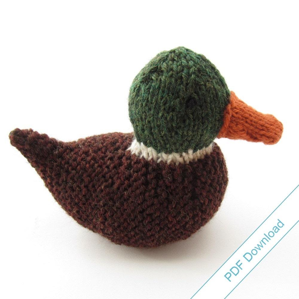 Toy Knitting Pattern. Knit Your Own Mallard Duck. Digital