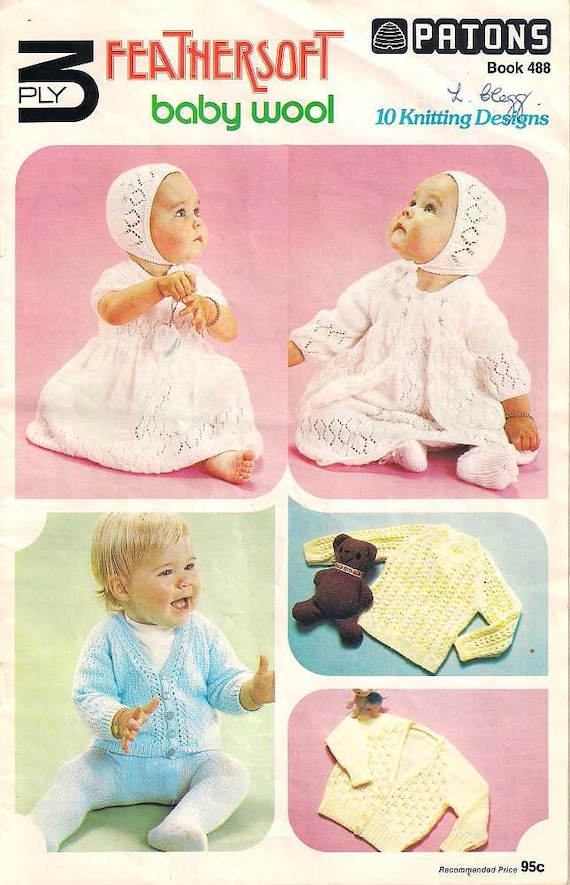 Los patons punto libro 488, tejidos de punto para bebé, tejer ...