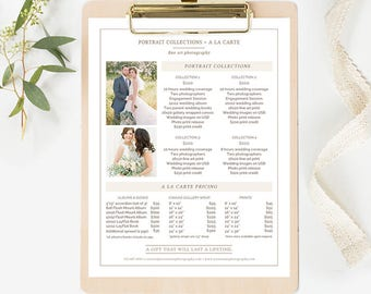 Wedding Photography Pricing Template, Photography Price List Template, Photographer Pricing Template, Photography Pricing Guide Template