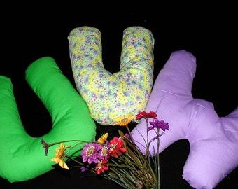 Alphabet Pillows - U V W