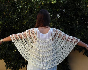 Wedding cape Capelet pattern Crochet poncho pattern  Lacy poncho pattern   cape pattern Wedding poncho shawl pattern Shawl poncho