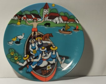"Elke Sommer Plate  ""Auf Dem Weiher""  ""On the Pond"""