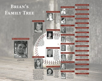 Custom Family Tree - Baseball