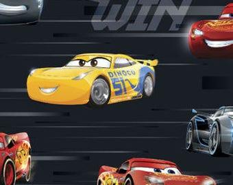 Disney Cars 3 Race to Win fabric