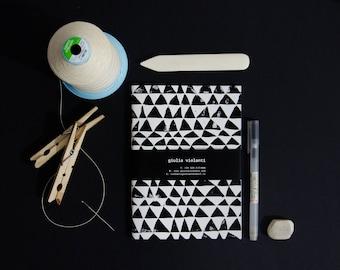 Triangle handmade notebook - linoleum