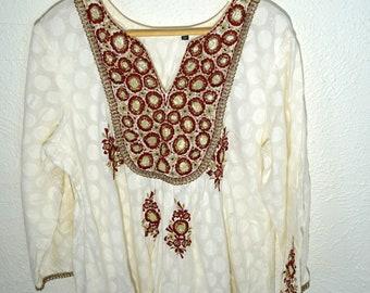 Beautiful Vintage Indian Tunic / Dress