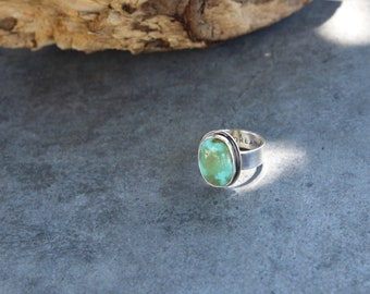 Turquoise Ring, Sterling Silver Ring, Statement Ring, Handmade Artisan Ring, Gypsy Ring, Natural Turquoise Gemstone ring