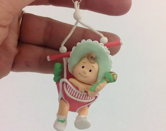 Hallmark Keepsake Baby's First Christmas 1987 Ornament Bouncy Seat Nursery Decor Christmas Tree Decorations Baby Ornaments Baby Girl Boy