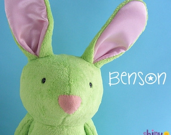 Benson Bunny Softie Pattern (digital PDF pattern)