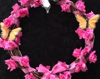 Spring Wreath, Handmade