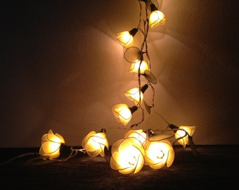 20 Bulbs Sweet Yellow flower string lights Garland for party and decoration